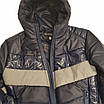 Демисезонная короткая курточка на мальчика подростка, цвет синий, р-ры 140-170, мод.Дарио, фото 9