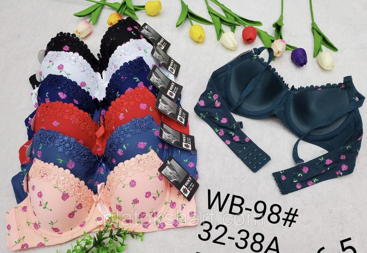 Нижнее белье бюстгальтеры для девочек Школа, лифчики в Цветочек Чашка А (WB98), фото 1