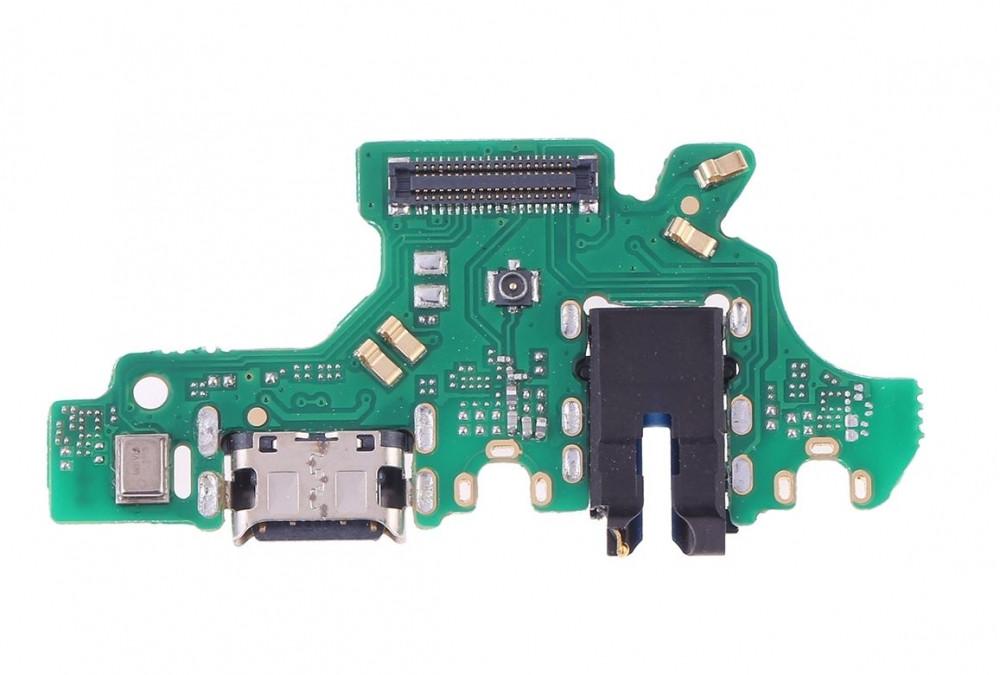 Шлейф для Huawei P30 Lite (MAR-L21)/Nova 4E, с разъемом зарядки и разъемом наушников, Оригинал