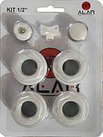 """Комплект футорок секційного радіатора ALAR 1/2"""", фото 1"""