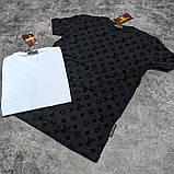 Мужская футболка Louis Vuitton CK1682 черная, фото 2