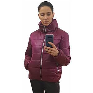 Куртка дутик женская демисезонная, много расцветок, модель Мира, Вишневая, размеры 42-48