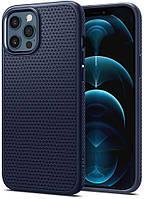 Чохол Spigen для iPhone 12 Pro Max - Liquid Air Navy Blue (ACS02247)