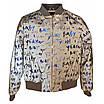 Светоотражающая ветровка-бомбер куртка из рефлективной ткани с принтом, размеры 38-46, фото 3