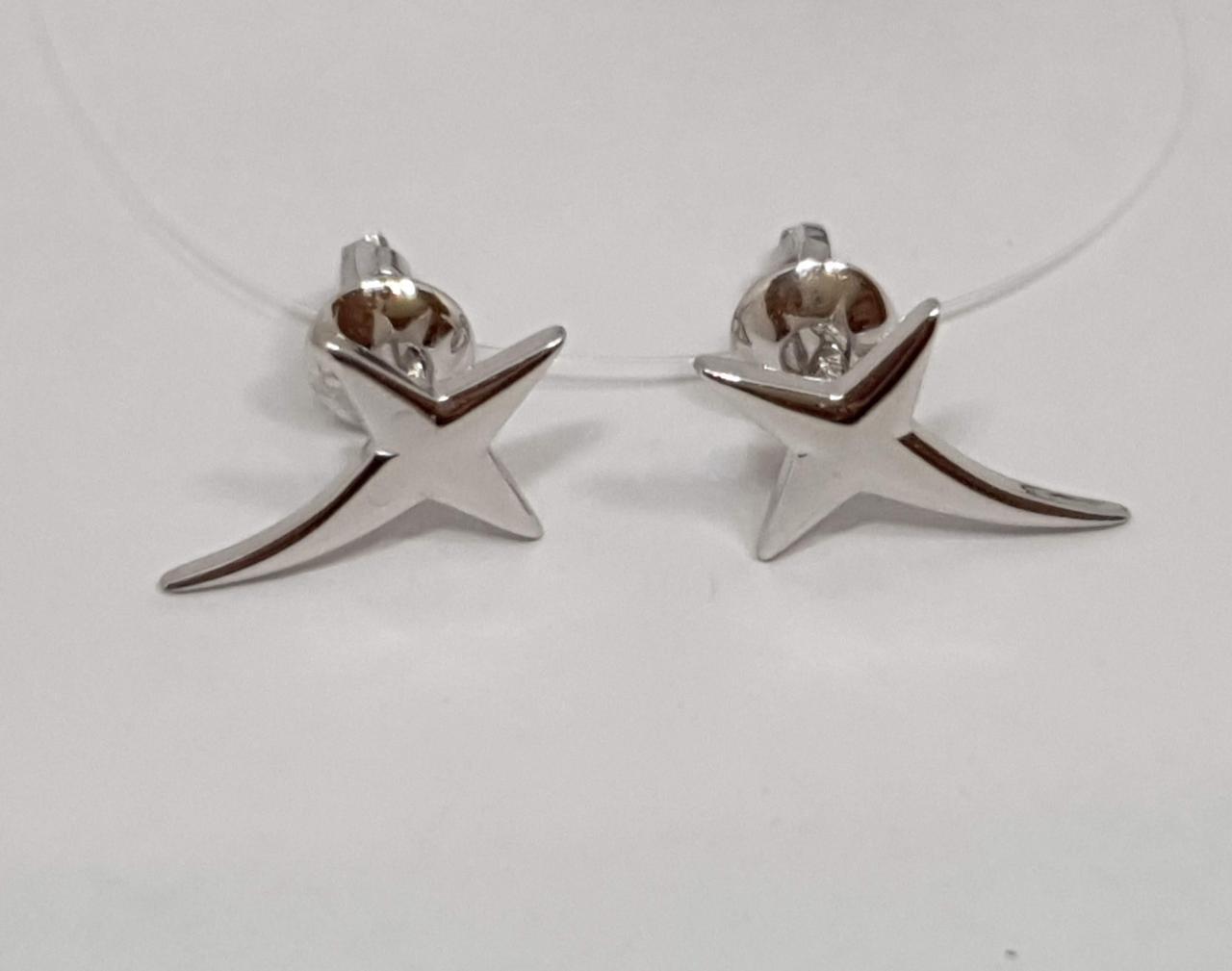 Серебряные серьги-пуссеты. Артикул 3455С