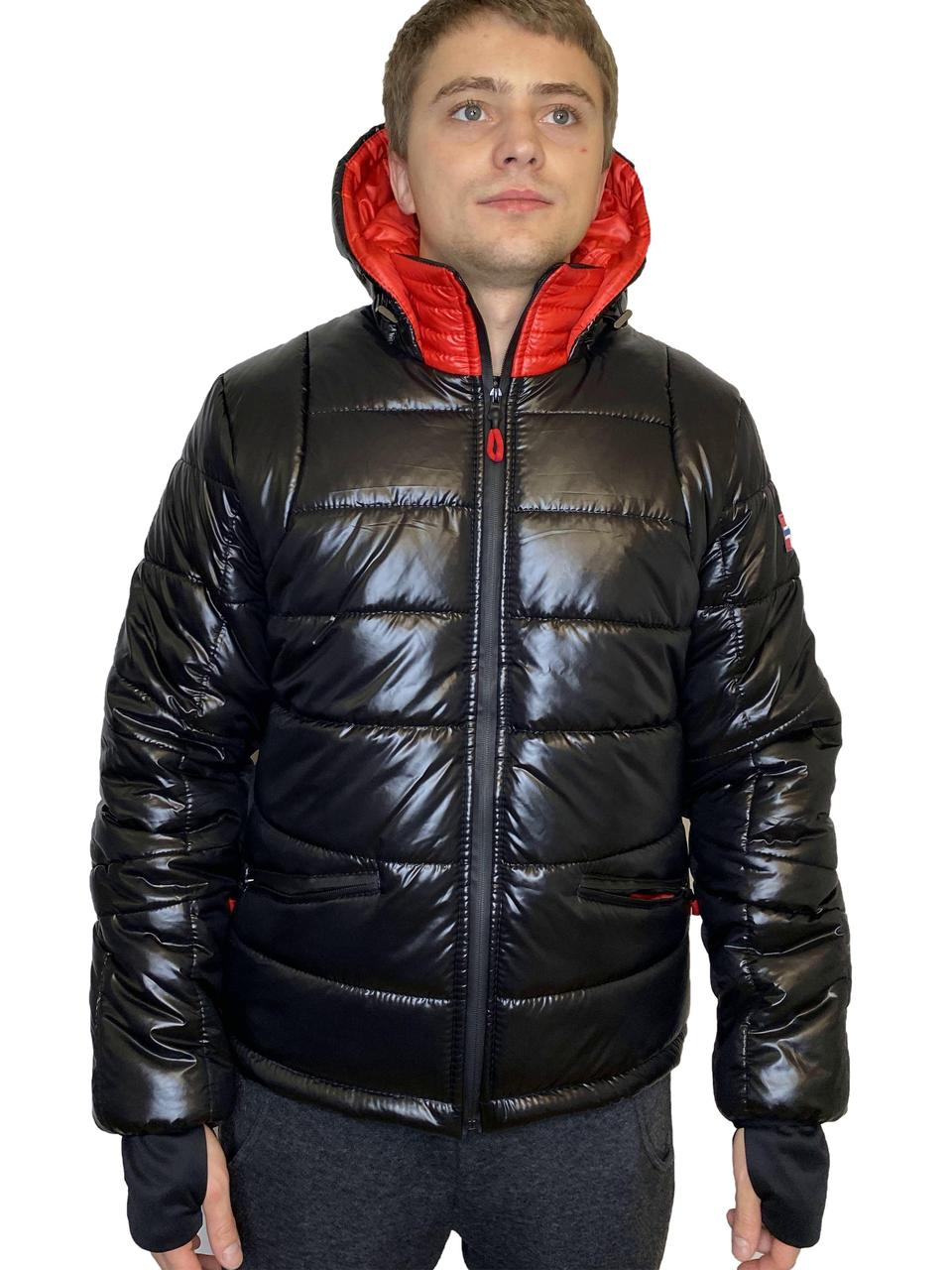 Куртка - пуховик зимняя мужская короткая из плащевки модель Тони