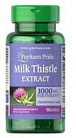Расторопша, Milk Thistle 4:1 (Silymarin), Puritan's Pride, 1000 мг, 90 капсул
