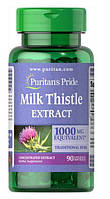 Розторопша, Milk Thistle 4:1 (Silymarin), Puritan's Pride, 1000 мг, 90 капсул