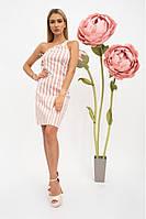 Летний хлопковый женский сарафан, платье - футляр на одно плечо 38, Бежевый