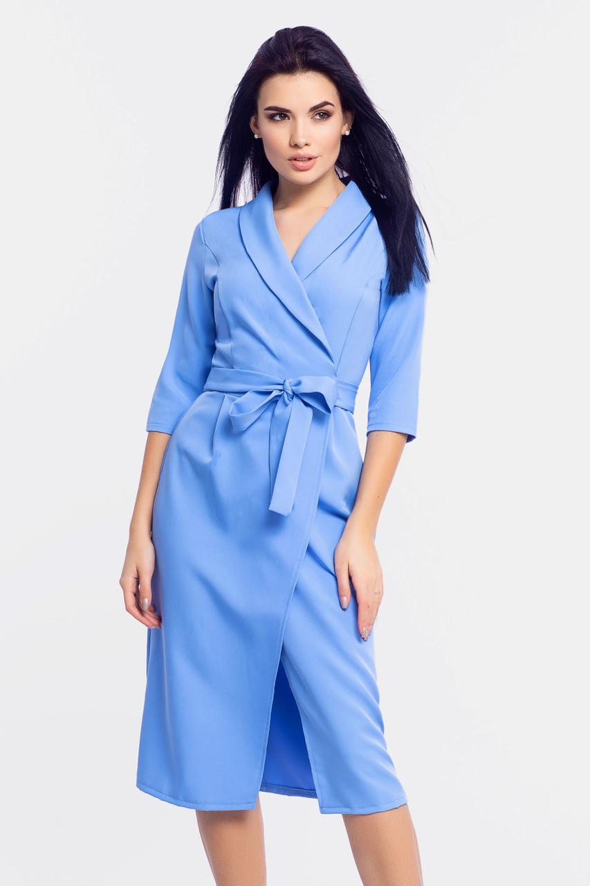 Женское платье на запах Barbara, голубой