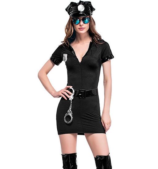 Сексуальный игровой костюм полицейской Dear Lover 0102 Черный