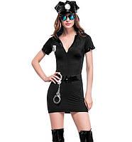 Сексуальный игровой костюм полицейской Dear Lover 0102 Черный, фото 1