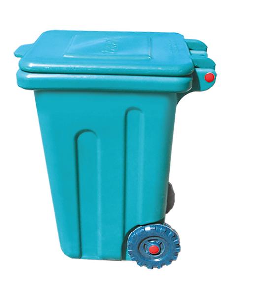 Бак для мусора пластиковый, на колесах, 110л Консенсус