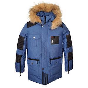 Теплая зимняя подростковая куртка на мальчика Марк 140-164