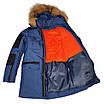 Теплая зимняя подростковая куртка на мальчика Марк 140-164, фото 5