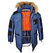 Теплая зимняя подростковая куртка на мальчика Марк 140-164, фото 7