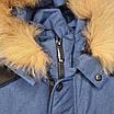 Теплая зимняя подростковая куртка на мальчика Марк 140-164, фото 9