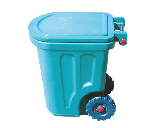 Бак для мусора пластиковый, на колесах, 90л Консенсус