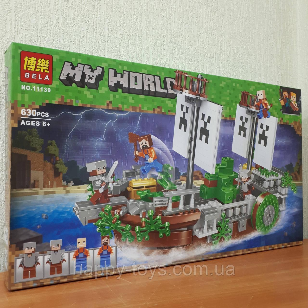Конструктор Minecraft Bela 11139 Майнкрафт Битва на реке My World 630 деталей