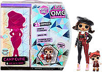 LOL Surprise OMG Winter Chill Camp Cutie Fashion Doll & Sister Babe in The Woods Doll, фото 1