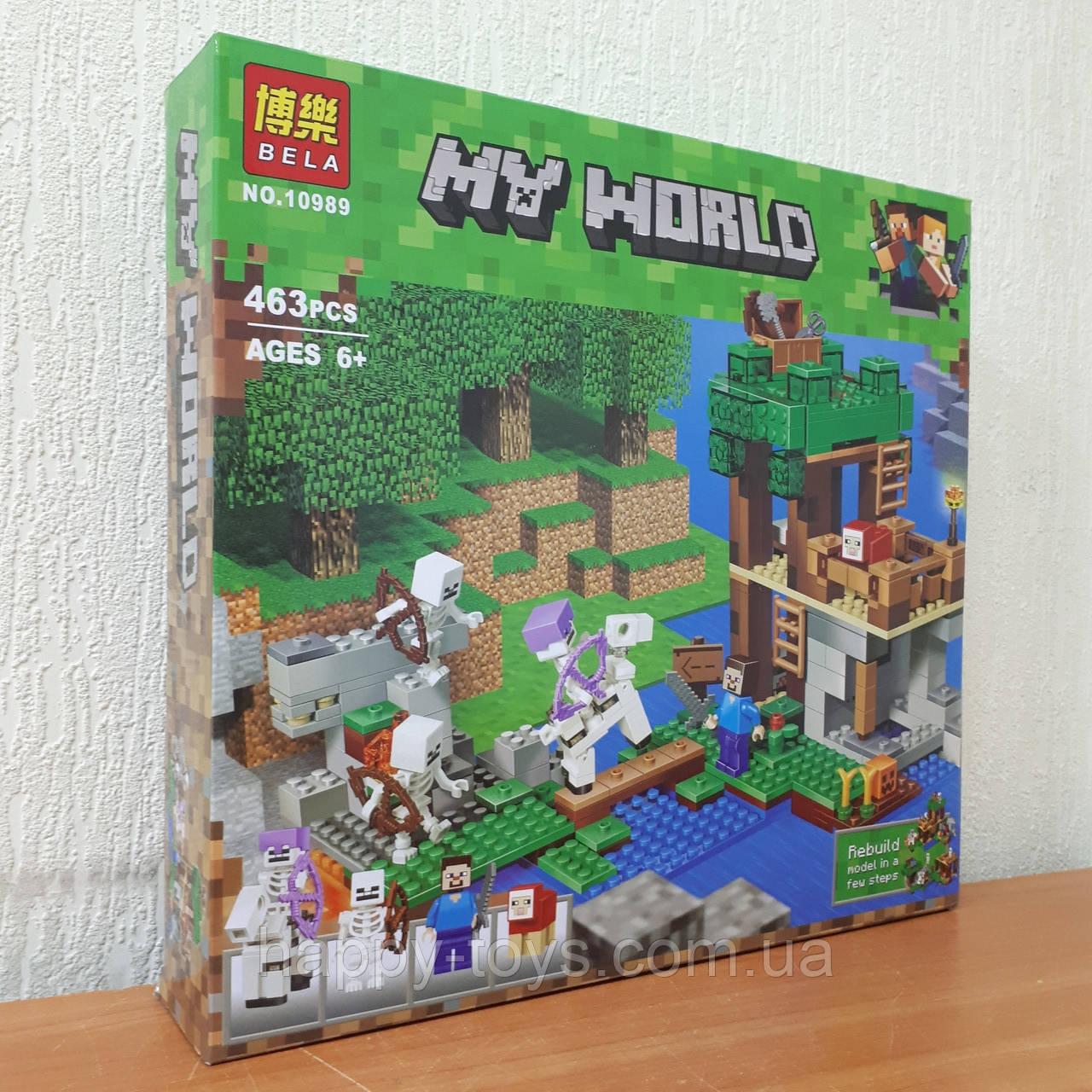 Конструктор Minecraft Bela 10989 Майнкрафт My World Нападение армии скелетов 463 детали