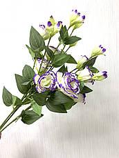 Искусственная эустома ( премиум , имитация натурального растения)., фото 3