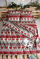 Комплект постельного белья Семейный(150х205) Вязаные сердца Бязь от Brettani