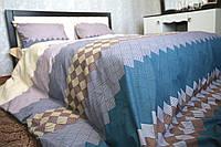 Комплект постельного белья Евро(210х220) Ромбики Бязь от Brettani