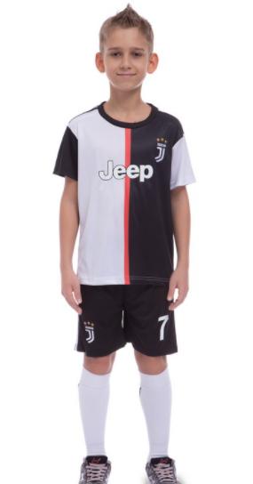 Форма футбольная детская JUVENTUS RONALDO 7 домашняя 2020 CO-1114 (реплика) размер 24