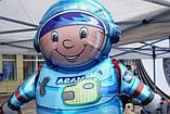 Фольгированный шар 40' Flexmetal Космонавт, 100 см 1882, фото 2