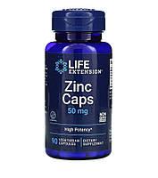 Life Extension, цинк в капсулах, висока ефективність, 50 мг, 90 капсул вегетаріанських