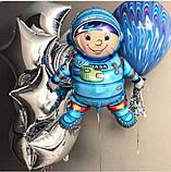 Фольгированный шар 40' Flexmetal Космонавт, 100 см 1882, фото 5