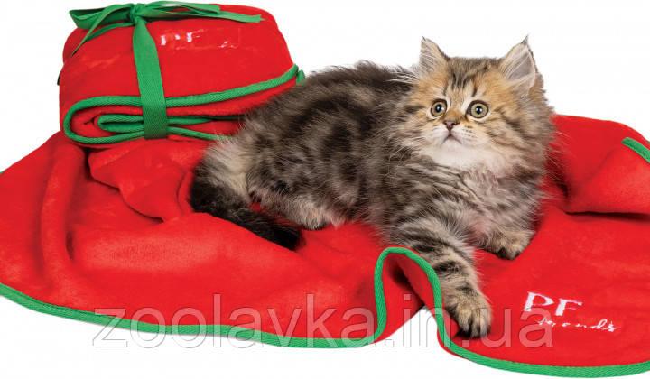 Плед для собак и котов Pet Fashion Сhristmas Bliss  77х60 см Красный с зеленым