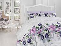Комплект постельный подарочный евро сатин Тюльпан