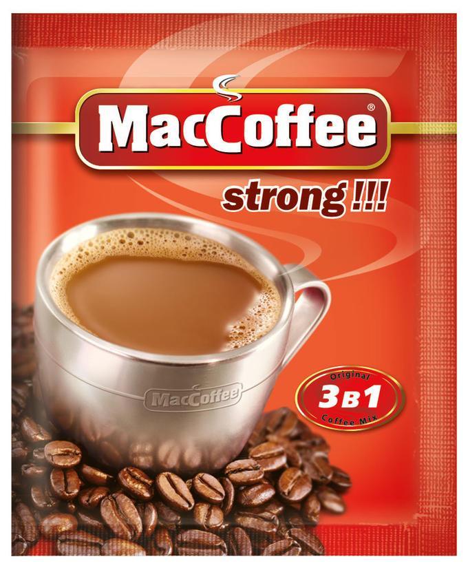 MacCoffee Strong 3-в-1 25 пакетиков