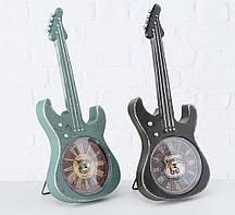 Настольные часы гитара металл чёрный h34см Гранд Презент 2005859-1Ч