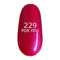 Гель-лак For You № 229 ( Нежно Розовая Сирень, микроблеск ), 8 мл