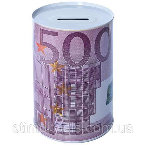 """Копилка-банка железная """"500 евро"""" 10*15 см"""