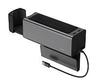 Автомобильный органайзер между сиденьями Baseus Deluxe Metal Armrest Console Черный (CRCWH-A01)