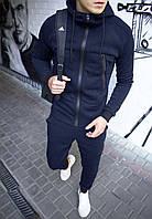 Спортивный костюм мужской зима|теплый костюм мужской на флисе| синий Турция. Живое фото. Чоловічий костюм, фото 1