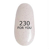 Гель-лак For You № 230 ( Бело Розовый, микроблеск ), 8 мл