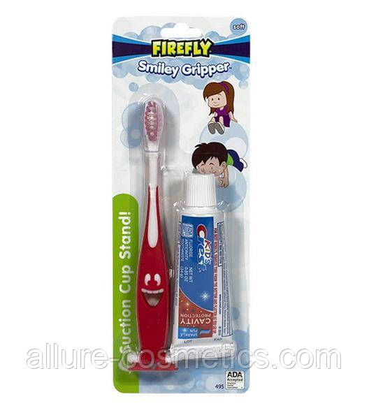 Набор зубная щетка + паста дорожная упаковка Crest Kids Smiley Gripper Toothbrush Travel Size