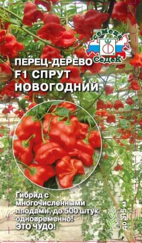 Перец-дерево Спрут Новогодний F1, семена