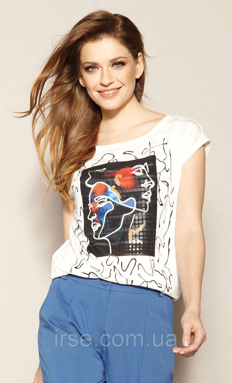 Zaps блуза Bambina молочного цвета, коллекция весна-лето 2021.