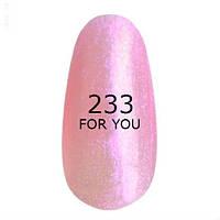 Гель-лак For You № 233 ( Ультрамодный Розовый, микроблеск ), 8 мл