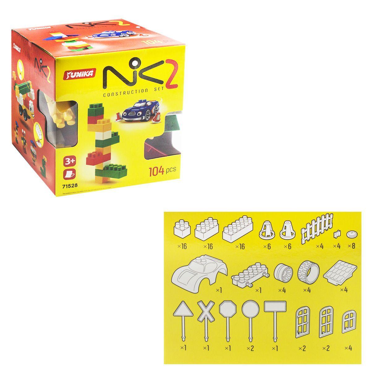 """Пластиковый конструктор """"NIK-2"""", 104 детали 1528"""