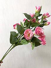 Искусственная эустома розовая ( премиум , имитация натурального растения), фото 2