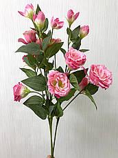 Искусственная эустома розовая ( премиум , имитация натурального растения), фото 3