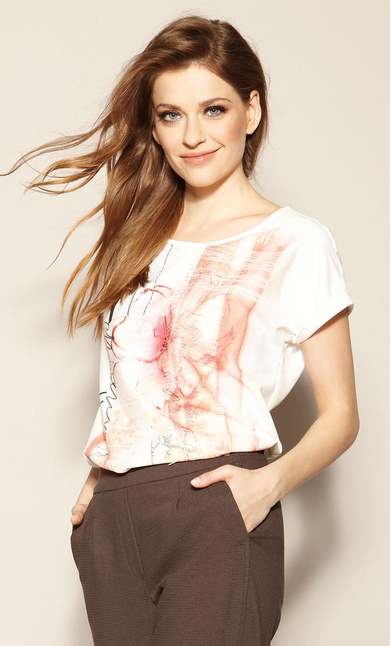 Zaps блуза Banti молочного цвета, коллекция весна-лето 2021.
