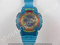 Детские часы Casio Baby G BA-111 5338 (013553) бирюзовый оранжевый желтый водонепроницаемые